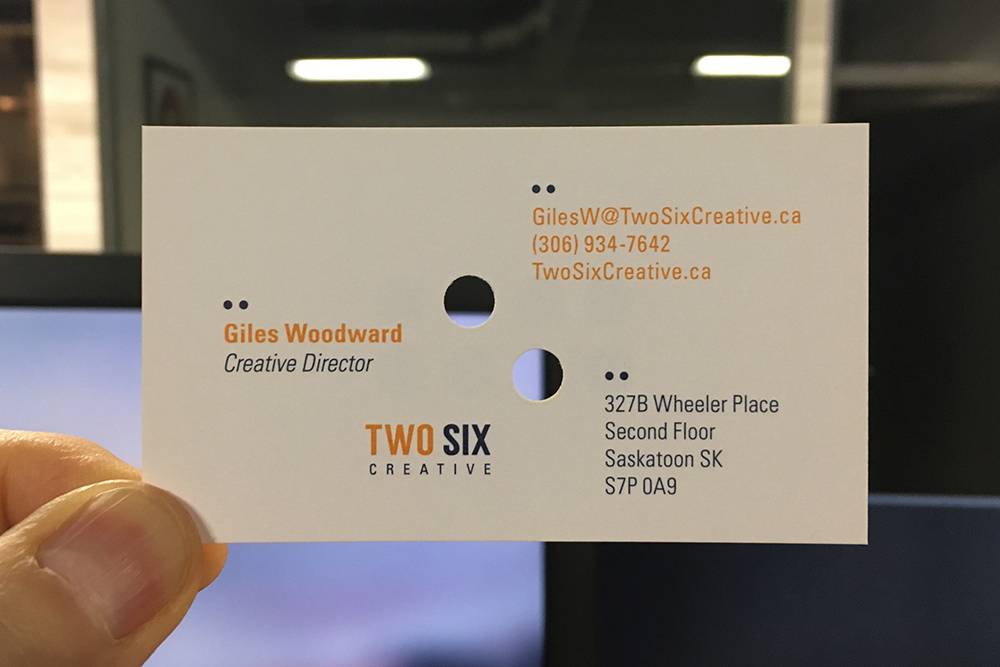 Two Six Creative Business Cards – Studio Woodward